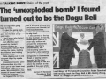Chinese bell bomb? news article 2005