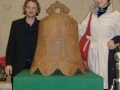 Mark Lewis and Helen with new Dagu bell replica in China 2005
