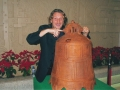 Mark Lewis playing with Dagu bell China 2005