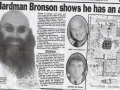 Charles Bronsons exhibition news article 2004