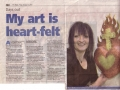 Maria Mullis exhibition news article