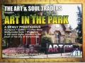 1st flyer / postcard for Art in the Park 2003