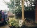 Flying bull school garden muiral with Garden angel 2001