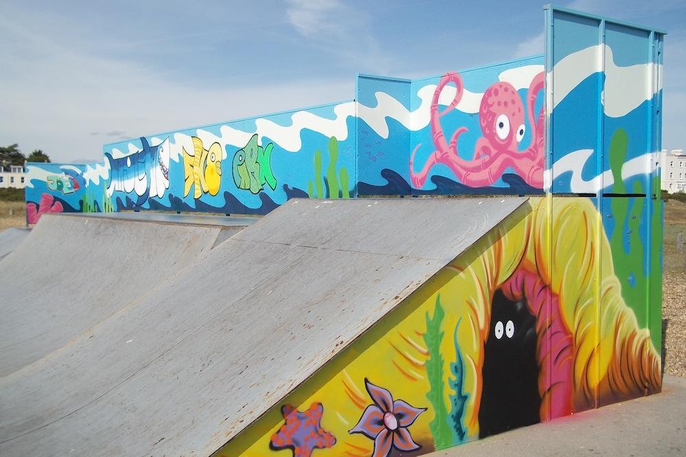 Hayling Island skate park 2011