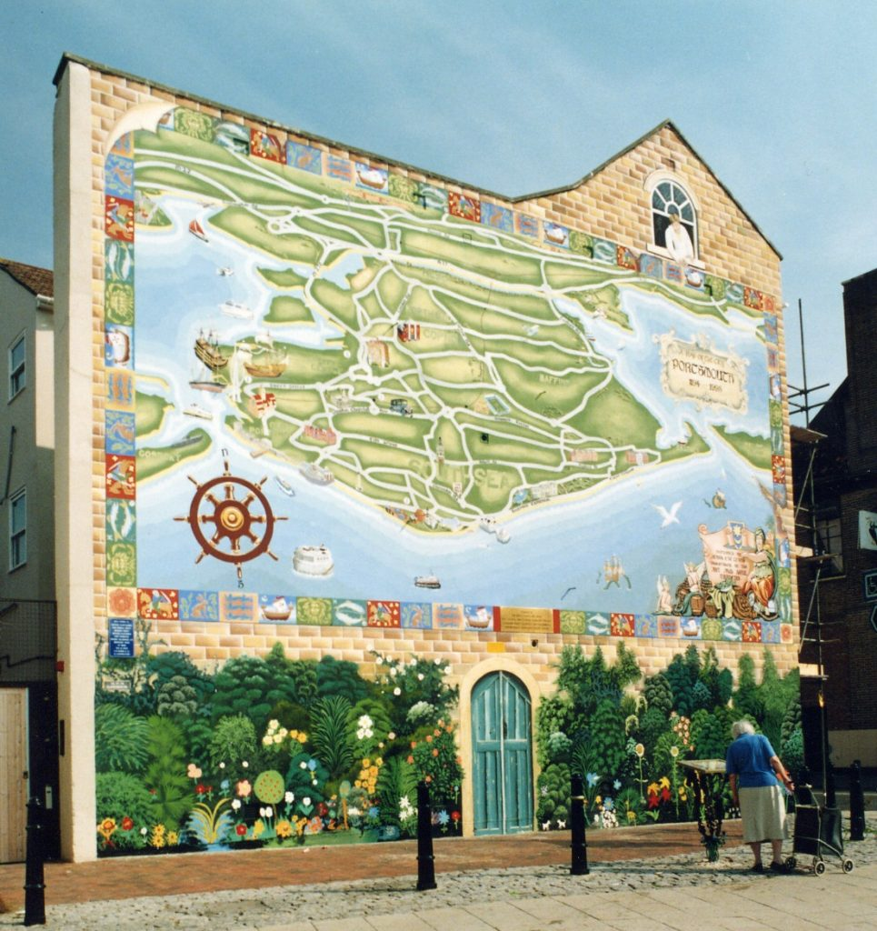 The original Strand map mural 1998